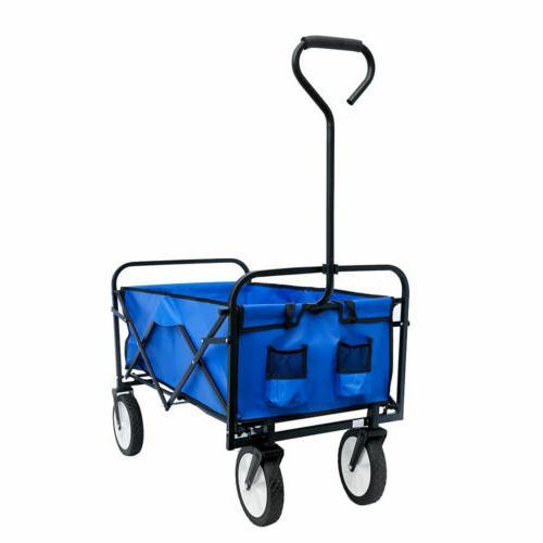 Deluxe Folding Cart Wagon Garden Cart