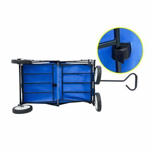 Deluxe Utility Beach Cart Portable Large Shopping Wagon Garden