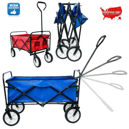 deluxe folding utility beach cart portable large