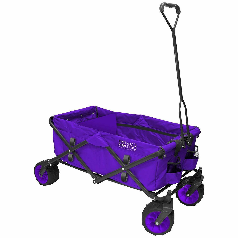 distributors folding wagon purple