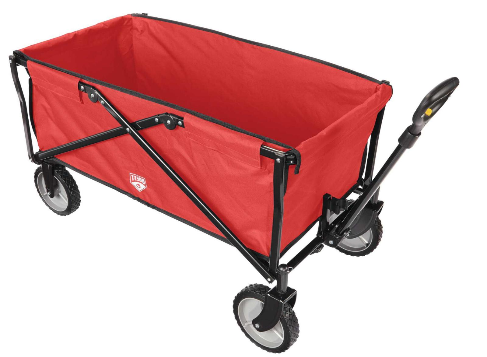 Quest Flat Foldable Utility Wagon for Camping