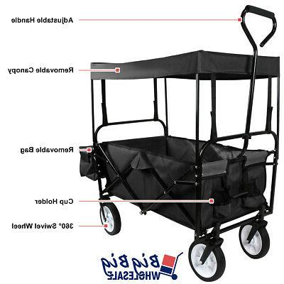 Cart Storage Toy w/Canopy 4 Kids