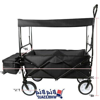 Folding Beach Wagon Garden Cart Storage Toy 4 Kids