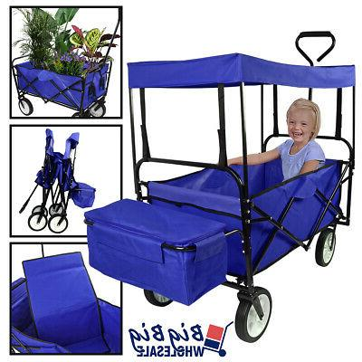 folding beach wagon garden cart storage utility