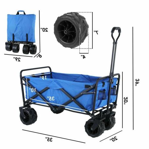 Folding Collapsible Beach Wagon Garden Camping All-Terrain U