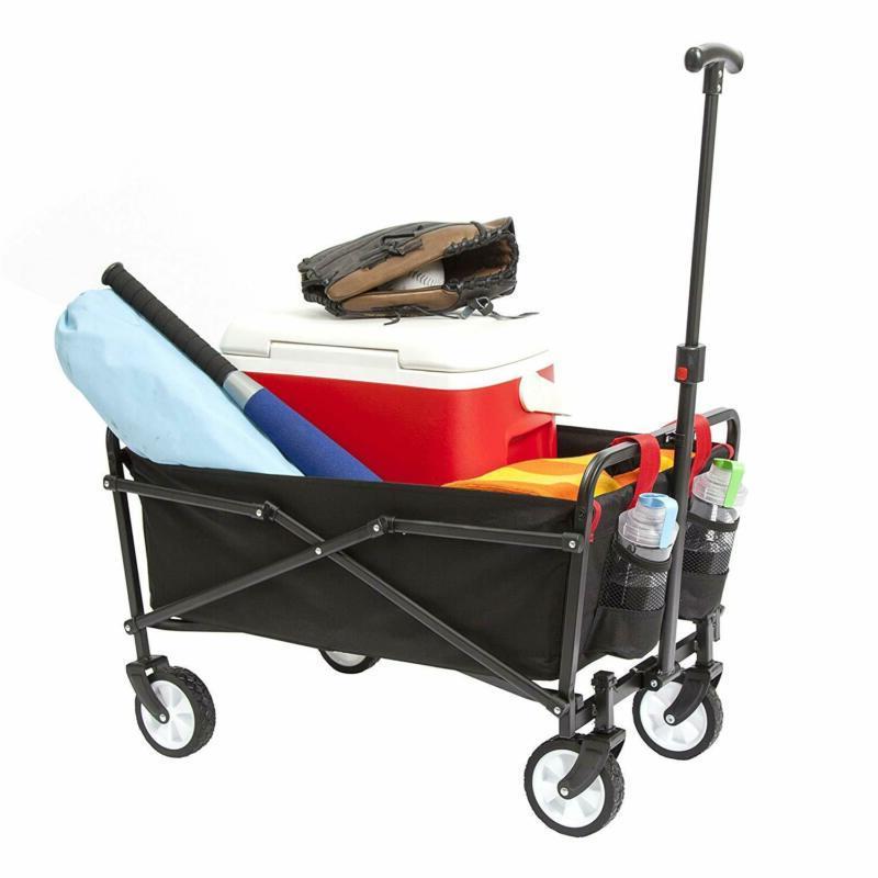 folding garden shopping utility cart strong solid