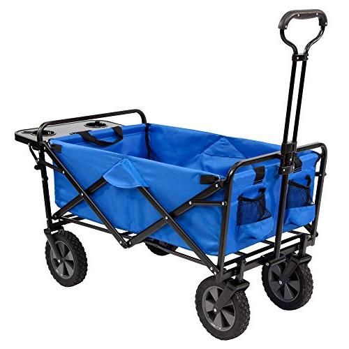 Mac Sports Garden Utility Wagon w/Table, Blue