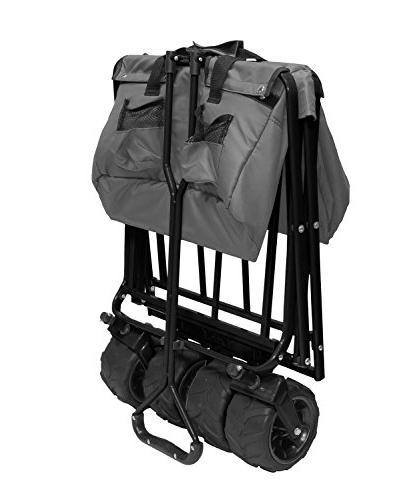 Creative 900210-Grey All-Terrain Folding Wagon,