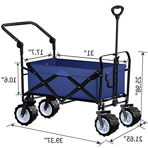 Folding Push Collapsible Utility Camping Grocery Canvas Rolling Beach Buggies Garden Picnic Duty Cart