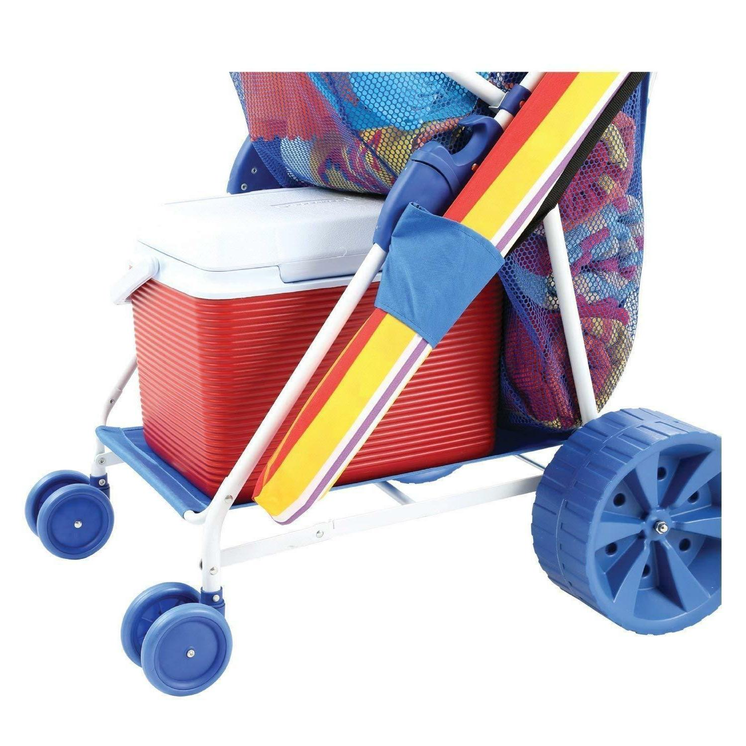 Folding Beach Collapsible Wagon Wide