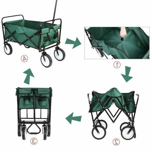 Collapsible Folding Outdoor Garden Shopping 165lbs