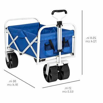 BCP Garden Beach All-Terrain Wheels - Blue