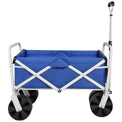 BCP Folding Wagon Garden Beach Cart All-Terrain Wheels