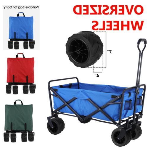 folding wagon cart collapsible sports utility beach