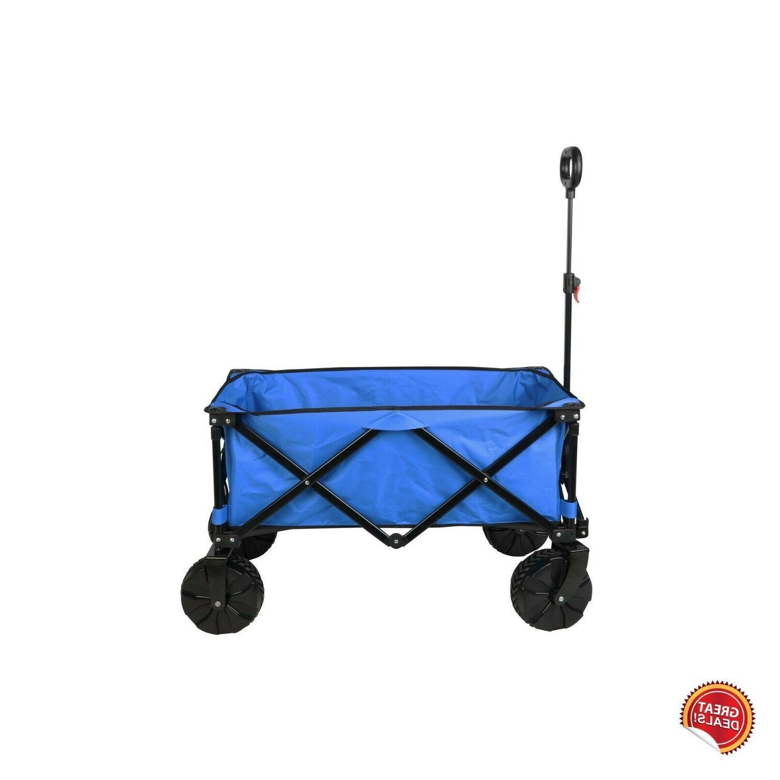 Folding Wagon Cart Sports Duty Wheels