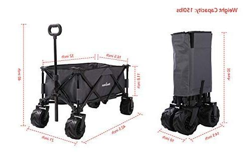 Patio Guarder Folding Heavy Utility Outdoor Wagon - Perfect Use for Camping, Shopping, Beach Trip,