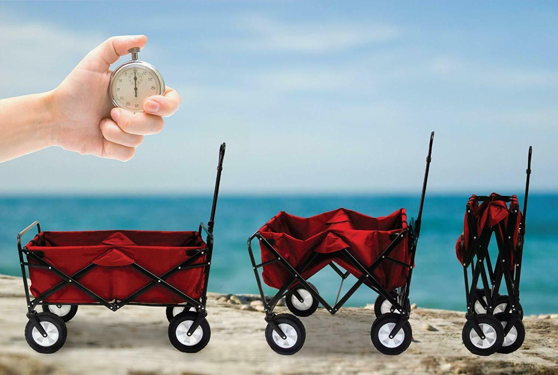 Folding Cart Heavy Duty Pull Terrain Wide Beach