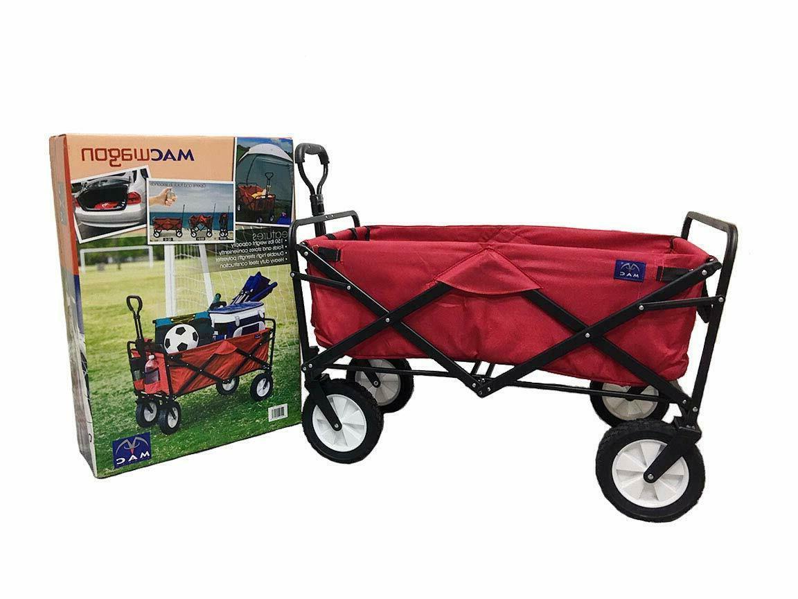 Folding Wagon Cart Heavy Duty Terrain Beach