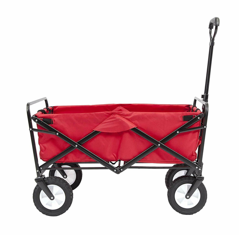 folding wagon cart heavy duty pull push