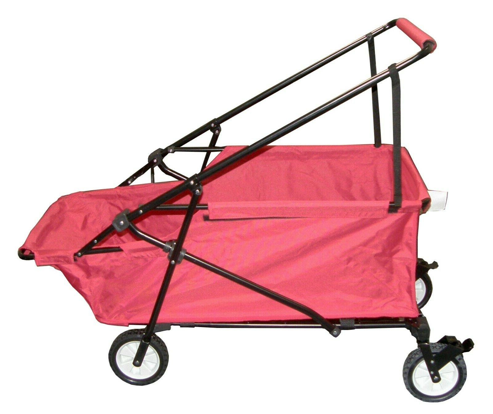 folding wagon collapsible beach utility cart outdoor