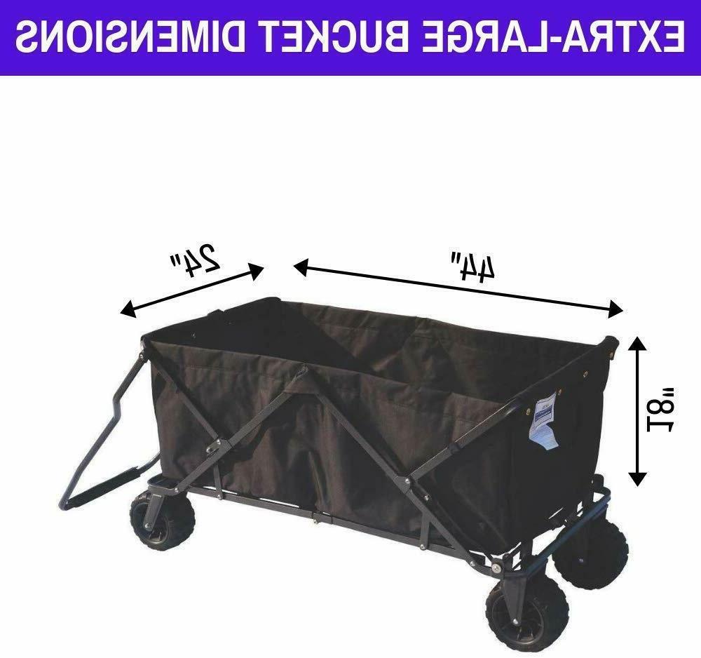 folding wagon collapsible beach utility garden cart