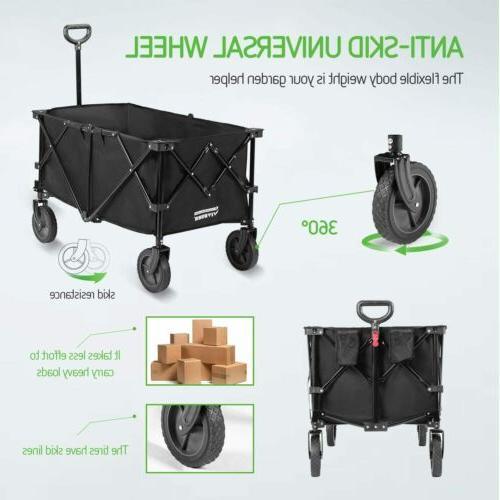 Folding Wagon Beach Utility Cart Heavy Duty