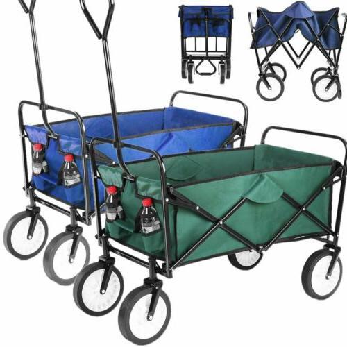 folding wagon collapsible garden utility cart handle