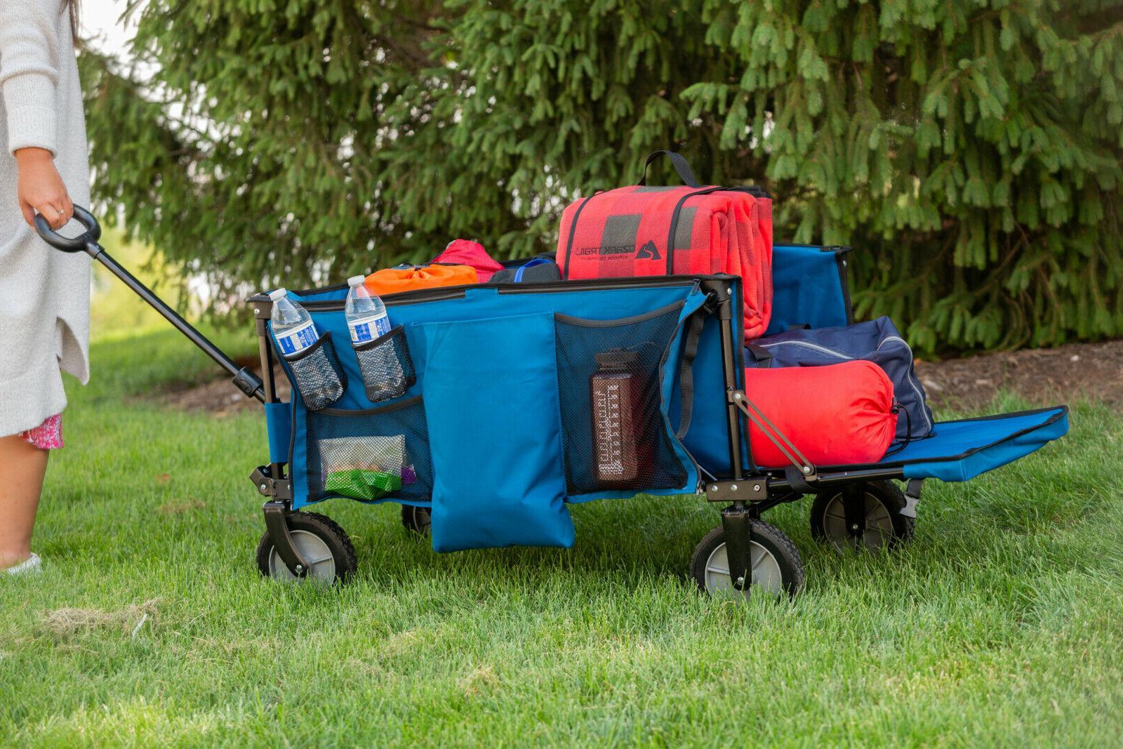 folding wagon collapsible garden utility cart telescoping