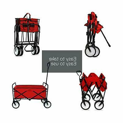 Folding Wagon Collapsible Sports Foldable Cart Wagons and