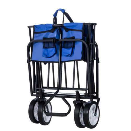 Kid Cart Folding Wagon Garden Beach Utility Toy Sport Buggy