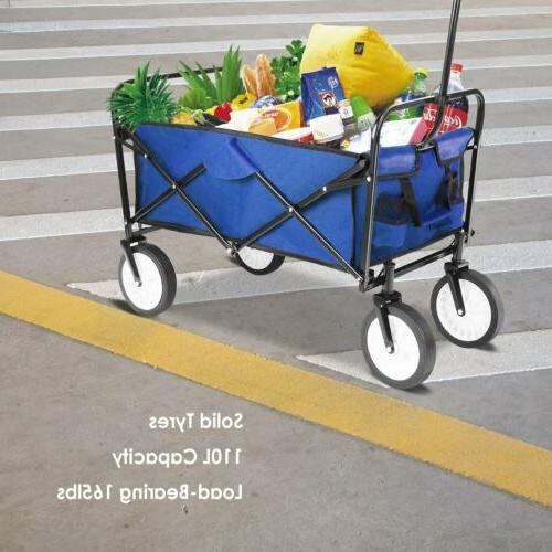 collapsible folding wagon shopping cart utility garden
