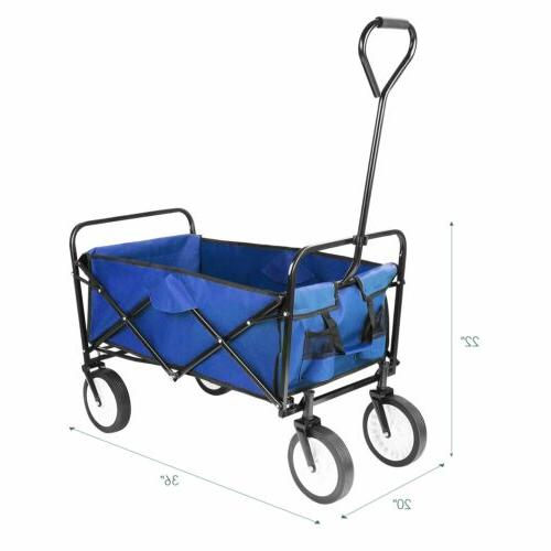 Folding Heavy Duty Collapsible Garden Shopping Camping Beach Sports Cart