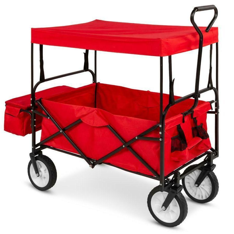 bcp folding utility wagon cart w 2