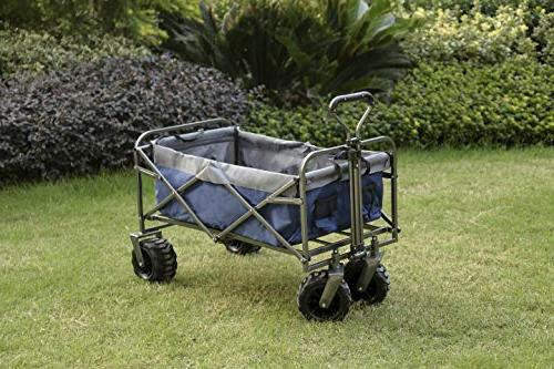 ARTPUCH Wagon Collapsible Utility Cart Heavy Duty for Shopping and Activities, Big Wheels