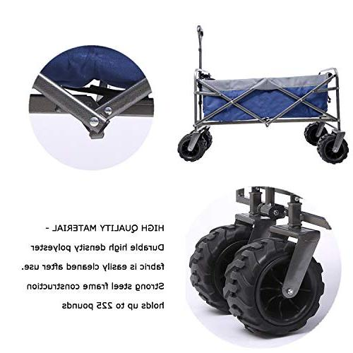 ARTPUCH Folding Wagon All-Terrain Collapsible Heavy Duty for Wheels