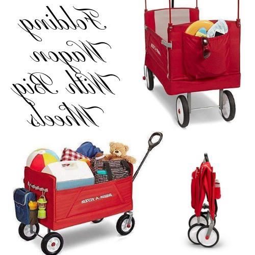 Folding Wagon w/Big Wheels For Kids And Cargo