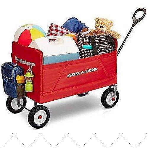 folding wagon w big wheels for kids