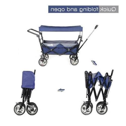 Folding Wagon Heavy-duty Collapsible Utility Travel