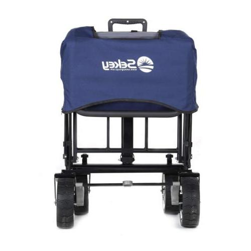 Collapsible Wagon Garden Beach Cart Toy Sport Canopy