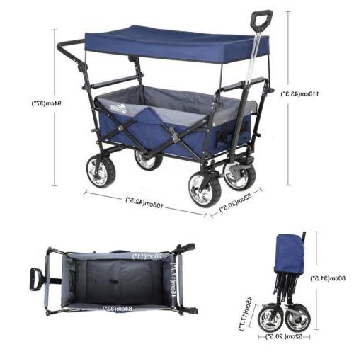 Folding with Canopy Heavy-duty Utility Travel