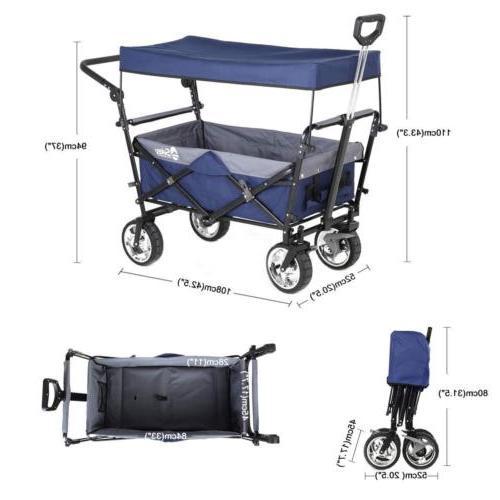 Folding with Canopy Heavy-duty Utility Travel