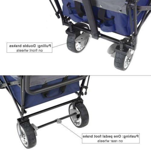 Collapsible Beach Cart Toy Sport Buggy +