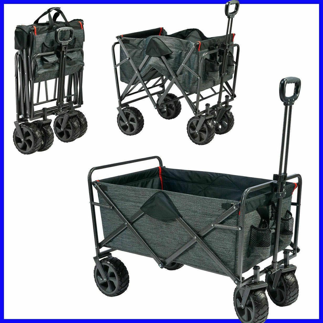 folding wagon with cargo net all terrain