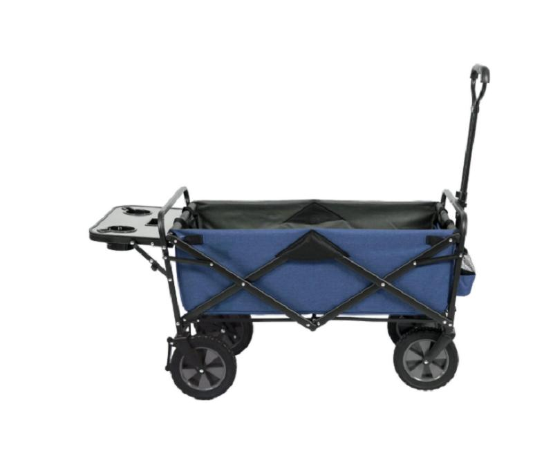 folding wagon with table in blue
