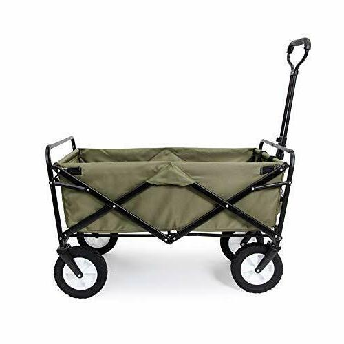 folding wagon with table in gray