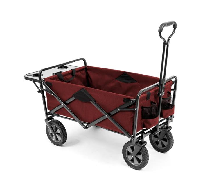 folding wagon with table in red wtc