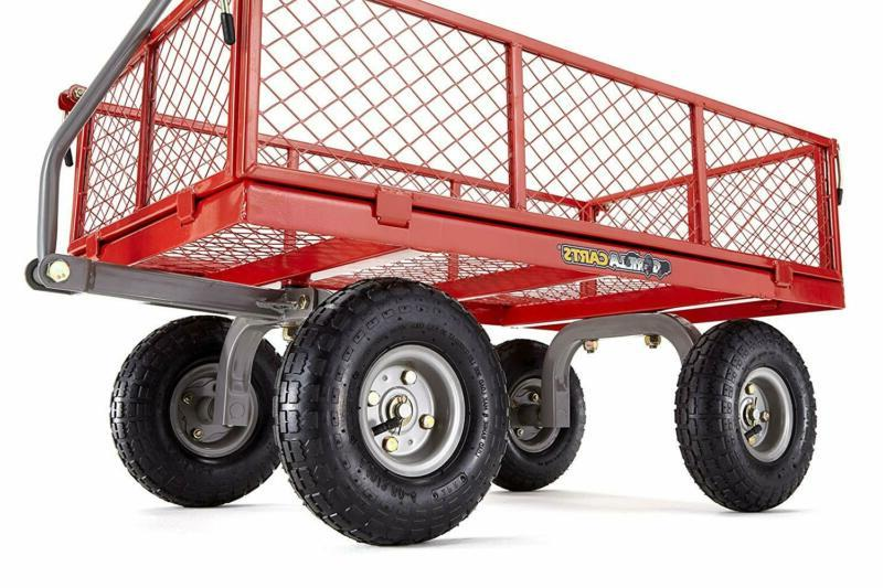 GOR800-COM Steel Utility Cart with Capacity Red Durable