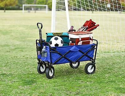Mac Sports Collapsible Folding Outdoor Utility Wagon, Blue F