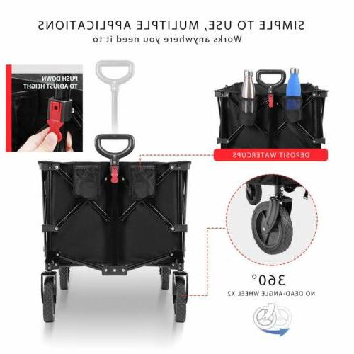 VIVOHOME Collapsible Utility Trolley US