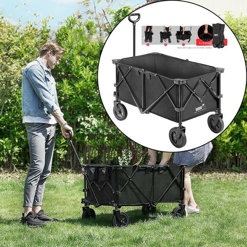 wagon cart folding collapsible garden beach shopping